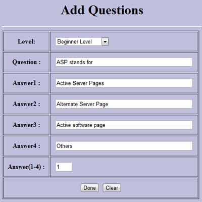 Online Examination System Project - Free Student Projects