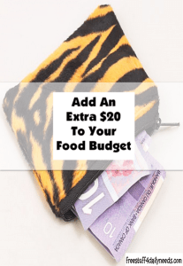 add an extra 20 to your food budget