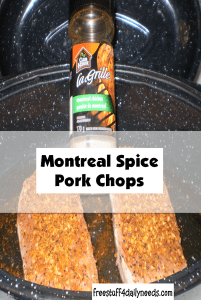 montreal spice pork chops