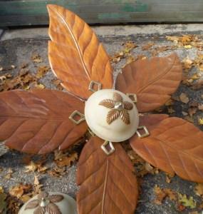 brown ceiling fan
