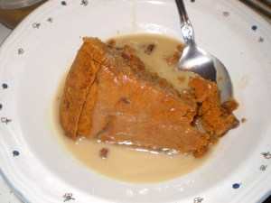 figgy duff molasses pudding with reduced sugar hard sauce