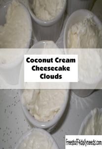 coconut cream cheesecake clouds