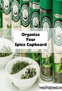 organize your spice cupboard