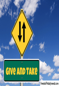 give and take sign