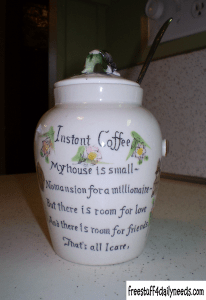 instant coffee canister poem