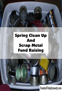 spring clean up and scrap metal fund raising