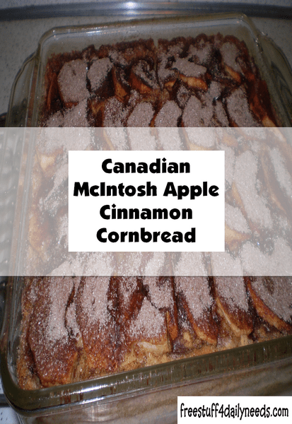 canadian mcintosh apple cinnamon cornbread