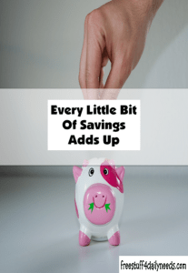every little bit of savings adds up