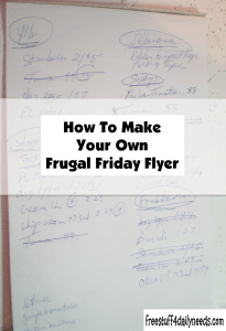how to make your own frugal friday flyer