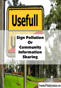 sign pollution or community information sharing