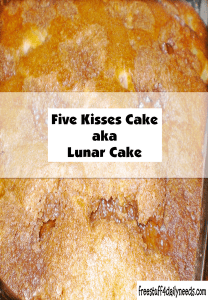 five kisses cake aka lunar cake