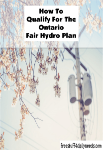 how to qualify for the ontario fair hydro plan