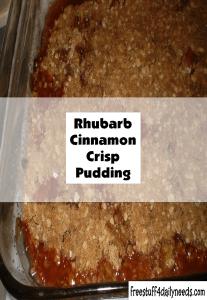 rhubarb cinnamon crisp pudding