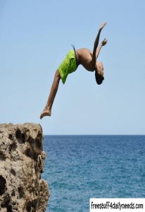 diving from cliffs