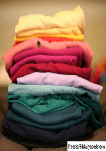 folded stack of clothes