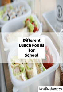 different lunch foods for school