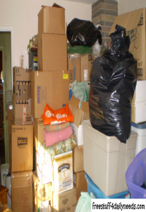 pile of donations