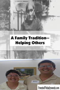 a family tradition helping others