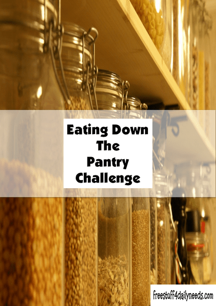 eating down the pantry challenge