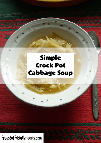 simple crock pot cabbage soup