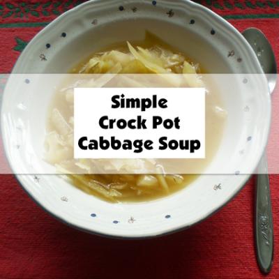 Simple Crock Pot Cabbage Soup