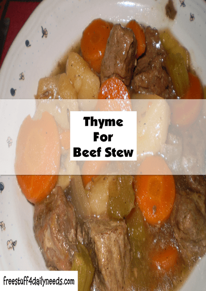 it is thyme for beef stew