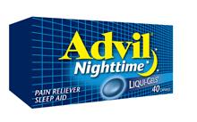 Advil Nighttime Liquid Gels Free Sample ~ Canada