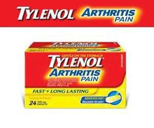 Tylenol Arthritis ~ FREE Full Sized Bottle of Tylenol Arthritis Pain Relief!