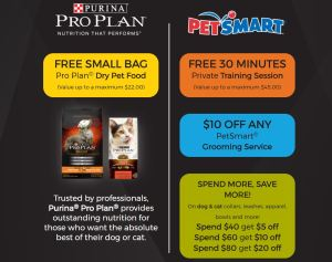 FREE Full Sized Bag of Purina Pro Plan Pet Food And More!