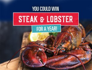 Win FREE Steak & Lobster For a Year!