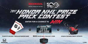 Win a Honda NHL Prize Pack!