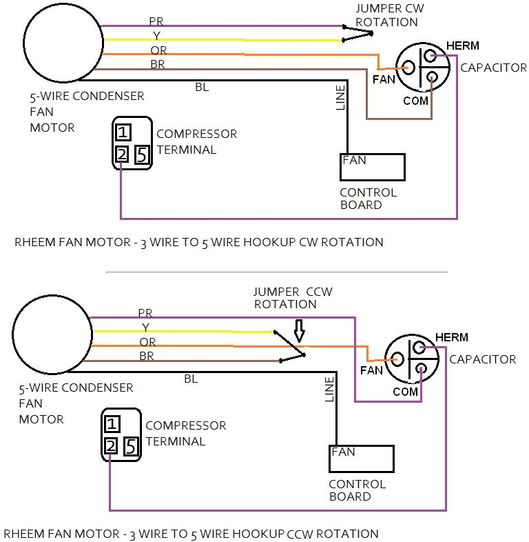 ceiling fan internal wiring diagram rheem heat pump defrost board air conditioner - how to change your condenser motor