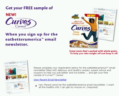 Curves Cereal Free Sample - US