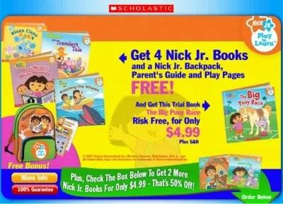 Sponsored: Scholastic Nickelodeon Nick Jr 4 Free Books ...