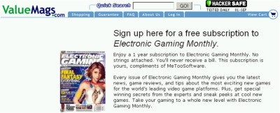 ValueMags.com Free Subscription to Electronic Gaming Monthly Magazine - US