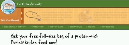 MyKitten.ca Free Bag of Purina Kitten Food - Canada