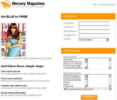 Mecury Magazines Free Elle Magazine Subscription  Us