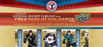 National Hockey Card Day Free NHL Hockey Cards from Upper Deck - January 30, 2010 Only, Canada