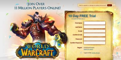 Ad: World of Warcraft Free 10-Day Trial