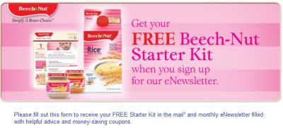 Beech-Nut Baby Food Free Starter Kit, Monthly eNewsletter and Coupons - US