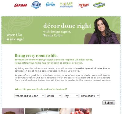 Home Made Simple Decor Done Right Coupon Booklet with $30 in Coupon Savings - US