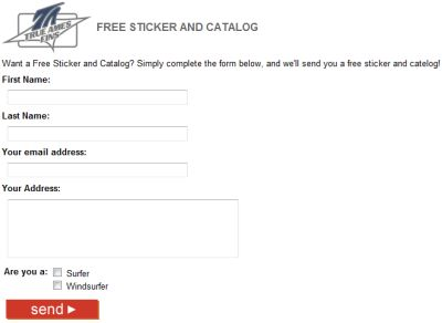 True Ames Fins Free Sticker and Catalog