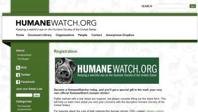 Humane Watch Free HumaneWatcher Bumper Sticker - US