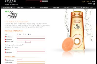 L'Oreal Paris Go 360° Clean Skin Cleanser and Scrublet Free Sample - Canada