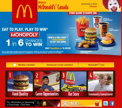 McDonald's Free Small Coffee from November 15 to 28, 2010 - Canada