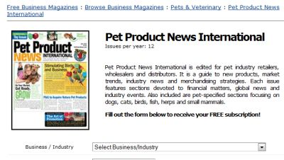Magazines.com Free Subscription to Pet Product News International - Canada and US