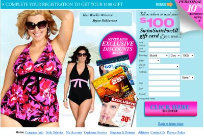 Swimsuits For All Win $100 Gift Card for Newsletter Registration - US