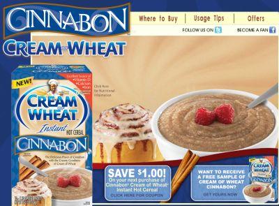 Cream of Wheat Cinnabon Free Sample - US