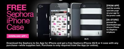 Sephora to Go App Free iPhone Case with Any Purchase