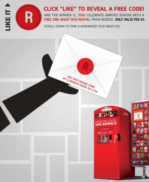 Redbox Free DVD Rental Code - Exp. February 24, 2011